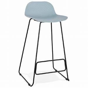 Chaise De Bar Bleu : tabouret de bar chaise de bar design ulysse pieds m tal noir bleu ciel ~ Teatrodelosmanantiales.com Idées de Décoration