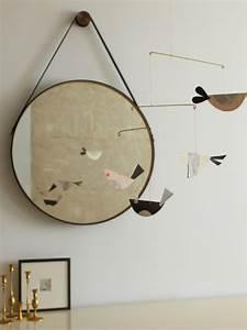 Miroir Rond Cuir : mod les de miroirs ronds pour la salle de bain ~ Teatrodelosmanantiales.com Idées de Décoration