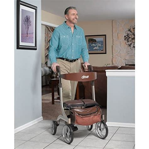 walker rollator nitro drive euro dlx champagne walkers rollators medical wheel toptenthebest rolling