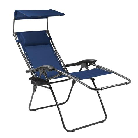 Picnic Time Reclining C Chair With Footrest by Picnic Time Navy And Slate Serenity Reclining Patio Lounge