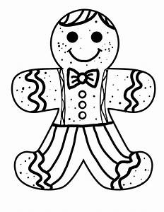 Gingerbread Man Color Page - AZ Coloring Pages