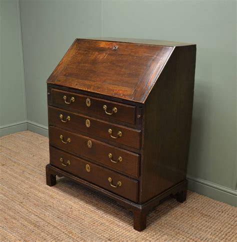 vintage bureau early georgian oak country antique bureau 258618