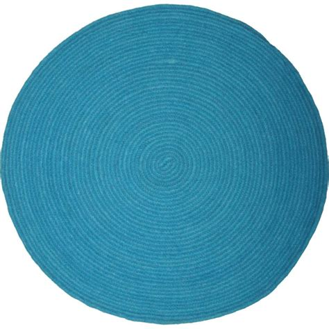 tapis rond bleu canard femandm