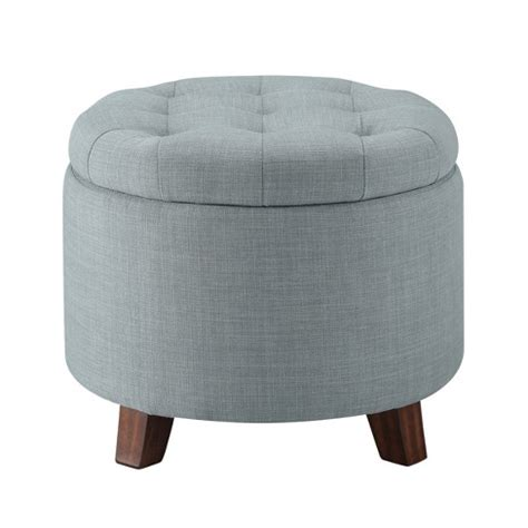 Grey Tufted Storage Ottoman by Tufted Storage Ottoman Heathered Gray Threshold