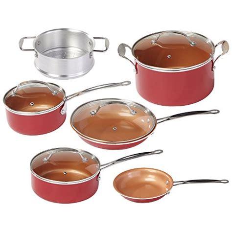 red copper  pc copper infused ceramic  stick cookware