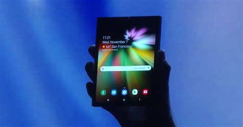samsung unveils its foldable smartphone behold the