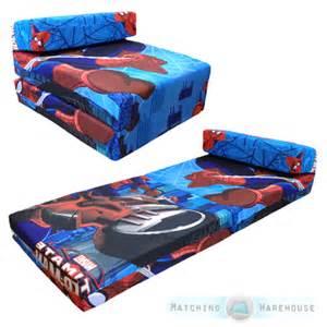 children s tv character fold out z bed foam chair futon guest sleepover mattress