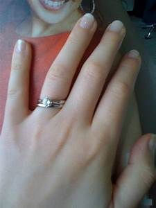 Solitaires on small fingers with plain or channel set for Tiny wedding ring