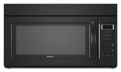 built in microwave ovens with exhaust fan amana amv2175cb 1 7 cu ft over the range microwave oven