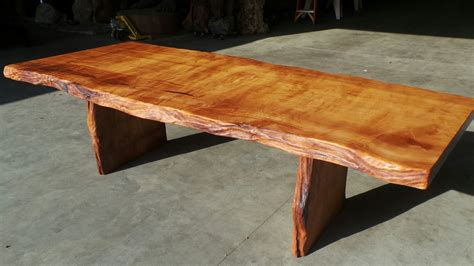rustic dining tables  edge wood slabs redwood burl