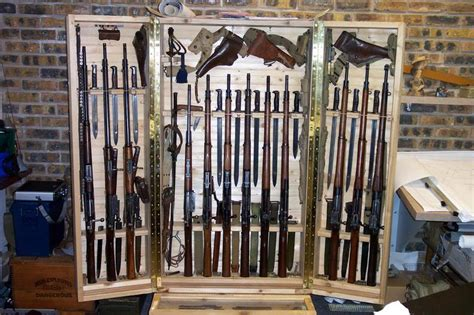 Diy Hidden Gun Cabinet Plans by Displaying Your Bayonet Collection