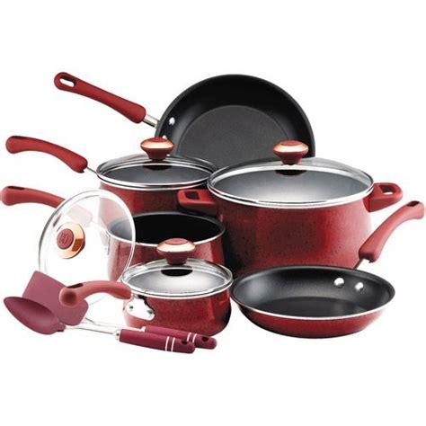 paula deen  piece nonstick cookware set enamel cookware paula deen cookware sets