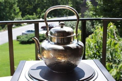 tea kettle kind silver