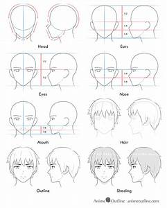 How To Draw Anime And Manga Male Head And Face Animeoutline