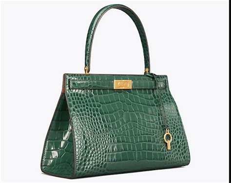 tory burch lee radziwill embossed satchel exotic excess
