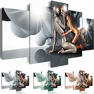 Tableau 5 Parties : impression sur toile 200x100 cm 3 couleurs choisir 5 parties image sur toile images ~ Teatrodelosmanantiales.com Idées de Décoration