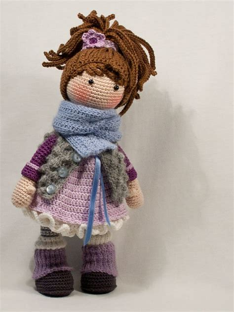 crochet baby doll toy gift  freind rattle  baby