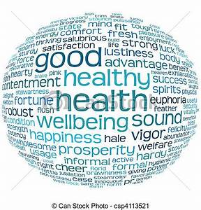 Clipart of good health and wellbeing tag cloud - good ...