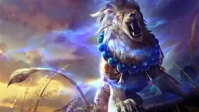 Lion 4k Fantasy Wallpapers Colorful Roar Artwork