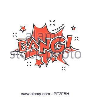Bang Comic Sound Speech Bubble Text Vector