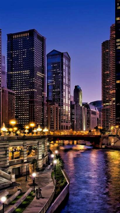 Chicago Skyline Android Phone Cityscape Downtown Illinois
