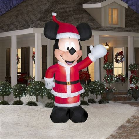 ft disney mickey mouse santa inflatable