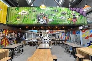 At Timbre+, food is served from shipping containers and