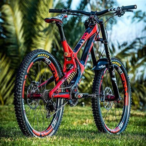 Gorgeous Downhill Mountain Bike Red Mountain Bike Biking