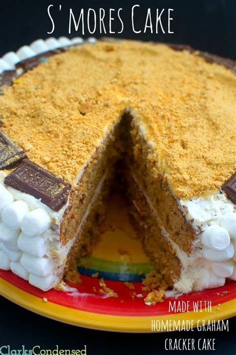 s mores cake recipe s mores cake graham cracker cake with marshmallow frosting