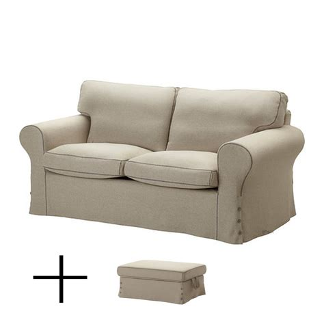 Ikea Ektorp 2 Seat Sofa And Footstool Slipcovers Loveseat
