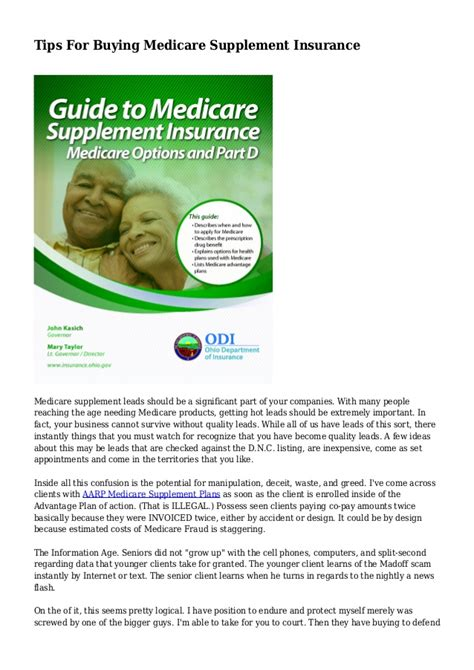 Imagine starting an insurance company in 1853; Tips For Buying Medicare Supplement Insurance