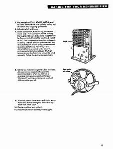 Page 13 Of Whirlpool Dehumidifier Ado40 User Guide