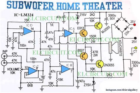 subwoofer home theater power lifier electronic circuit