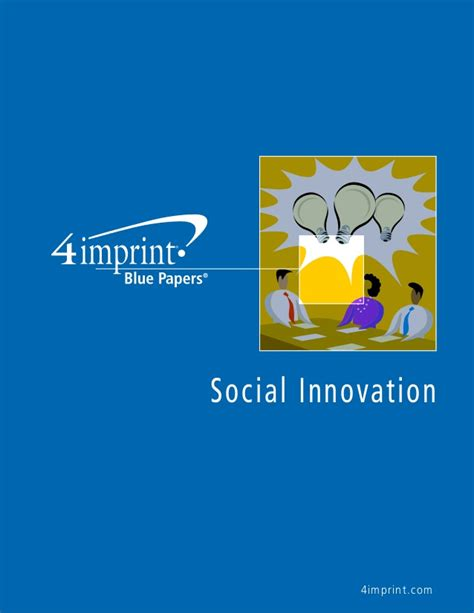 Social Innovation Blue Paper By Promotional Products Retailer 4imprint