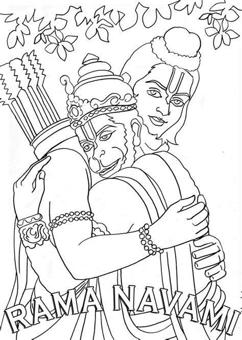 lord rama  sita  colouring pages