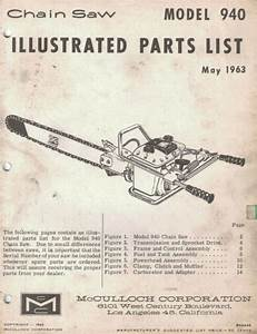 Mcculloch Dealership Illustrated Parts List Manual Model