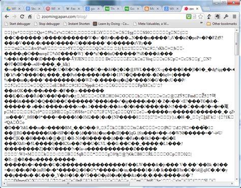 errors page output  strange characters wordpress