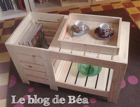 DIY  Table basse en bois de palette avec coffre de rangement - Le blog de Bu00e9a