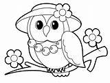 Coloring Owl Pages Printable Popular sketch template