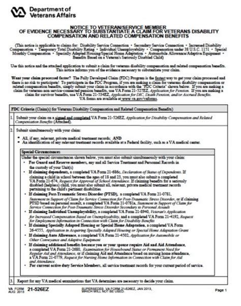 va form 526 download va 21 526ez application for disability
