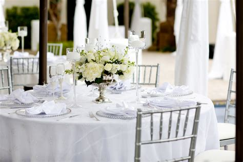 White-and-silver-wedding-reception