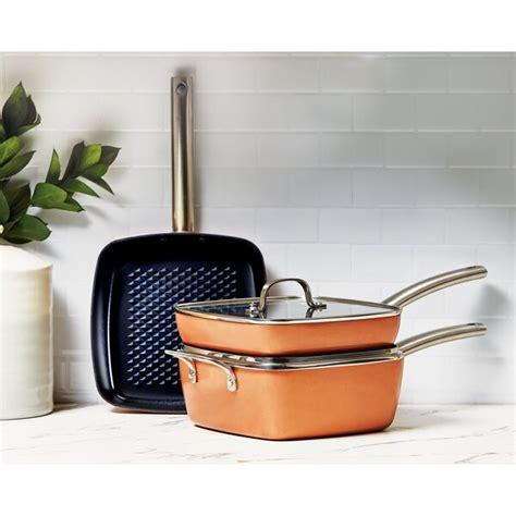 copper chef black diamond  piece cookware set reviews wayfair