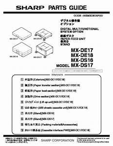 Sharp Mx-de17  Mx-de18  Serv Man2  Parts Guide
