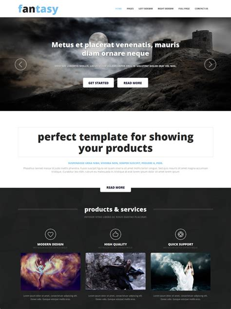 website templates fantasy fantasy website template fantasy website templates