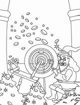 Rumpelstiltskin Coloring Pages Straw Into Gold Turning Template sketch template