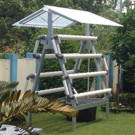 Jual Kit Hidroponik Surabaya jual kit hidroponik nft dft 80 lubang rangka baja ringan