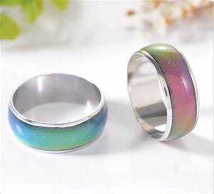 mood ring wedding rings with the temperature change color With mood wedding rings