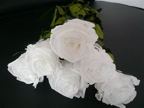 white rose bouquets preserved bunch  flowers  white
