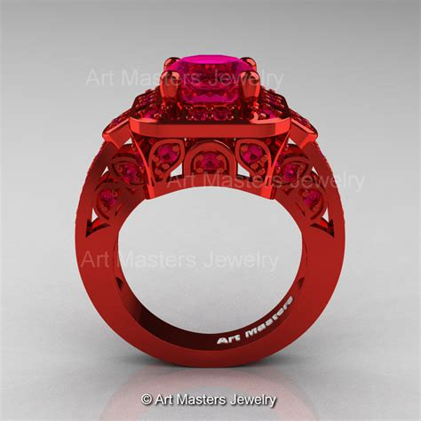 blood wedding ring art masters classic 14k red gold 2 0 ct pigeoin blood ruby