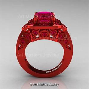 Art masters classic 14k red gold 20 ct pigeoin blood ruby for Blood wedding ring